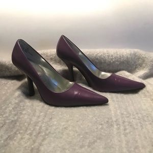 "Chinese Laundry Spicy Purple 3"" heels. Size 7.5m"